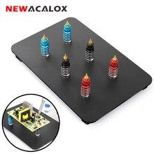 NEWACALOX narzędzia trzeciej ręki podstawa magnetyczna płytka drukowana zacisk mocujący lutowanie pomocna dłoń naprawa spawalnicza oprawa do lutowania