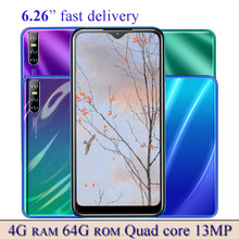 Smartphone y8p Quad Core, identificación facial, Android, 13MP, Original, 4G RAM, 64G ROM, 2sim, 6,26