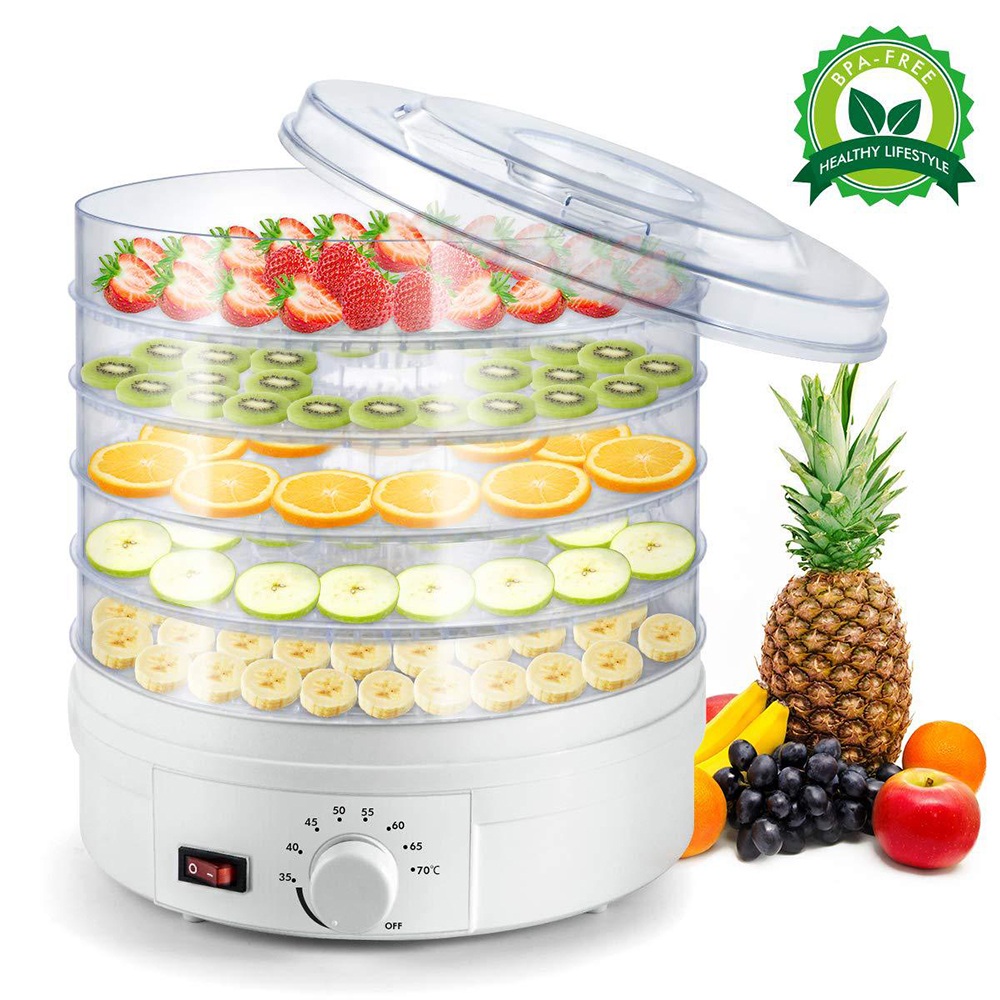 Home Food Dehydrator For Vegetables Fruit Electric Dryer Machine 220V Kitchen Convenient Multifunction Fruit Drying Machine