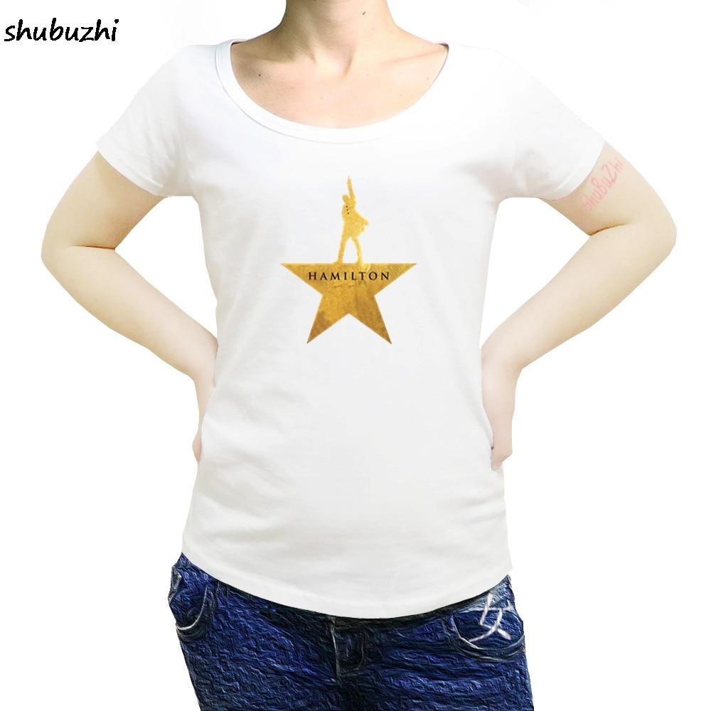 hamilton Summer casual women T-Shirt American Musical Broadway Gold Star Cotton O-Neck Short high quality women T-Shirt sbz3227 4