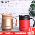 Keelorn 500ML Kaffee Thermos Tasse Thermocup Edelstahl vakuum flaschen Thermoskannen Versiegelt Thermo becher für Auto Mein Wasser Flasche|Isoliergefäße & Thermoskannen|   -
