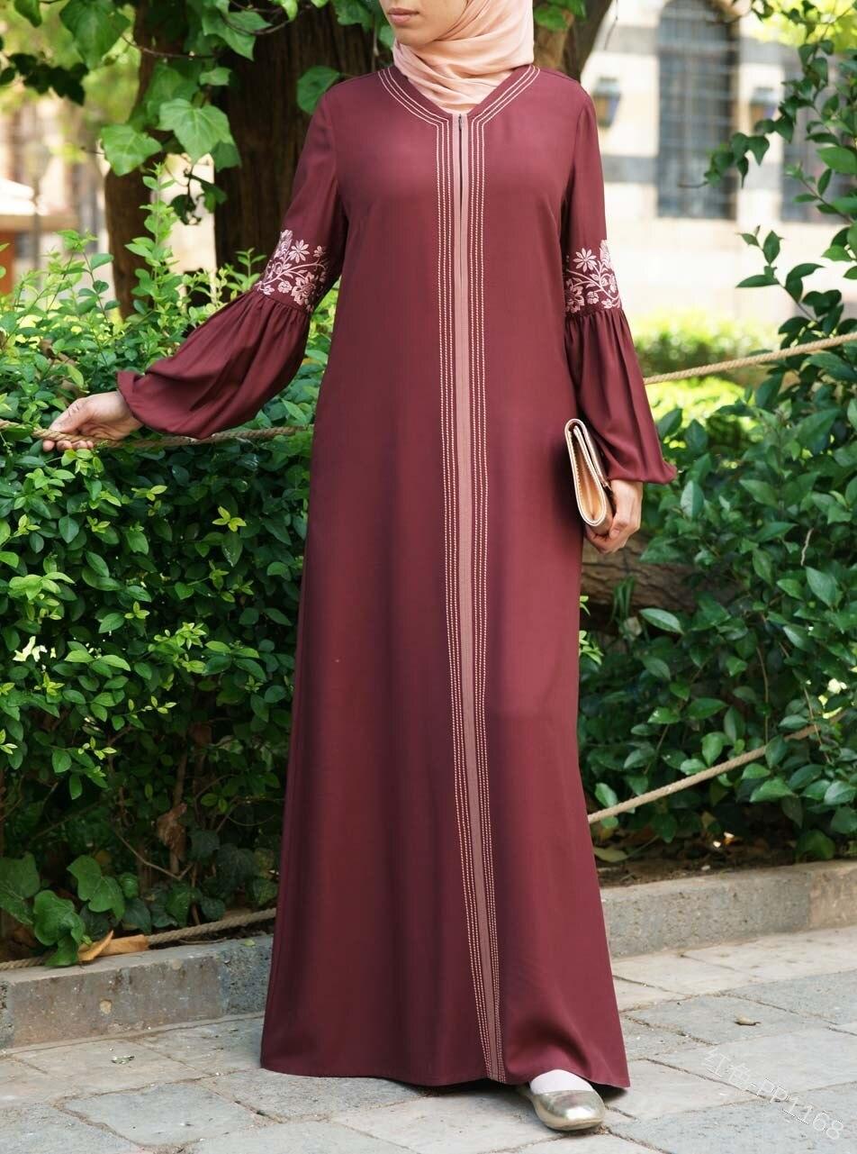 Image 4 - Дубай Турецкая абайа Бангладеш женщина Абая, головной платок femme musulman мусульманское исламское платье Абая одежда Восточный халат из марокена кафтан-in Мусульманская одежда from Новый и особенный в использовании