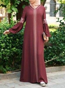 Image 4 - Dubai abaya turkish bangladesh woman abaya jilbab femme musulman muslim abaya dress islamic clothes caftan marocain kaftan