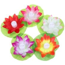 Flower Celebration Floating-Lotus Festival LED for Activity 1pc Swimming-Pool