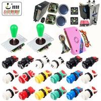 DIY Arcade Bundles Kits Parts video game Pandora Box 6 1300 in 1 With Power Supply Jamma wiring Joystick illuminated Push