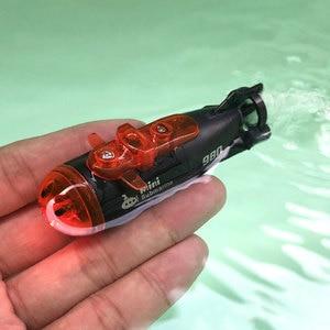 Mini RC Model Submarines Three-channel Electric Radio Remote Control Ship Glow In The Dark Kid's Aquarium Underwater Toy