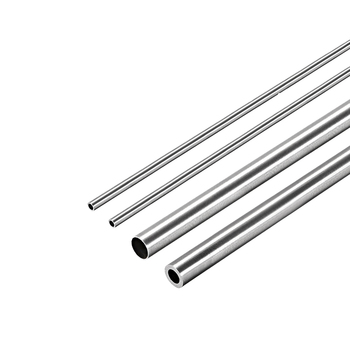 Tubo redondo de acero inoxidable uxcell 2Pc 304 3mm 4mm 5mm OD 250mm de longitud tubo recto sin costura 0,2mm-1mm de espesor de pared