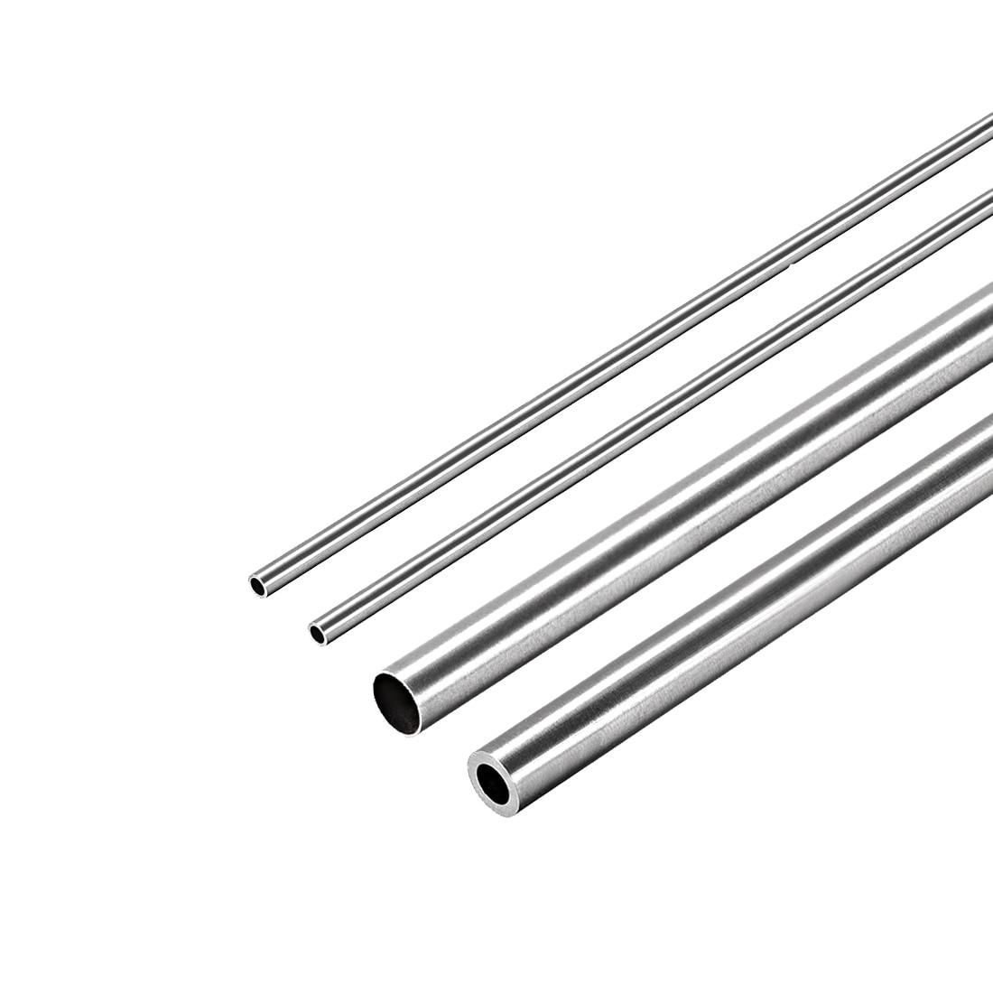 Tubulação redonda de aço inoxidável 3mm 4mm 5mm od 304mm do comprimento do tubo reto sem emenda da tubulação 250mm-espessura da parede de 1mm uxcell 2 pces 0.2