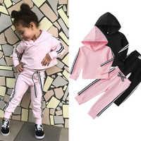 Sport Kinder Kleidung Für Mädchen kinder Kleidung 2Pcs Sätze Hoodies Tees + Sportwear Hosen 2-6 Jahre frühling Kleidung für Mädchen D30