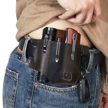 Etui portable de ceinture multi-fonction pour le camping,poche tactique en cuir pour outils divers, pochette de stockage pour la chasse, nouveau,