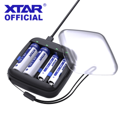 XTAR ET4S 1.5V Battery Charger Born For 1.5V Li-ion Batteries 1.2V AA AAA Ni-MH Batteries Portable Battery Charger For Traveling