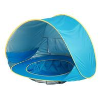 Baby Beach Tent Children Waterproof Pop Up Awning Tent Uv Protection Sunshade Pool with Pool Children Outdoor Camping Sunshade