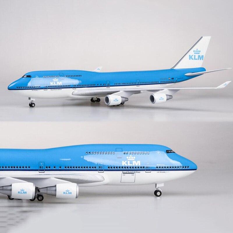 1/157 skala 47CM Flugzeug Boeing B747 KLM Royal Dutch Airlines Modell W Licht & Rad Diecast Kunststoff Harz Flugzeug für Sammlung-in Diecasts & Spielzeug Fahrzeuge aus Spielzeug und Hobbys bei  Gruppe 3