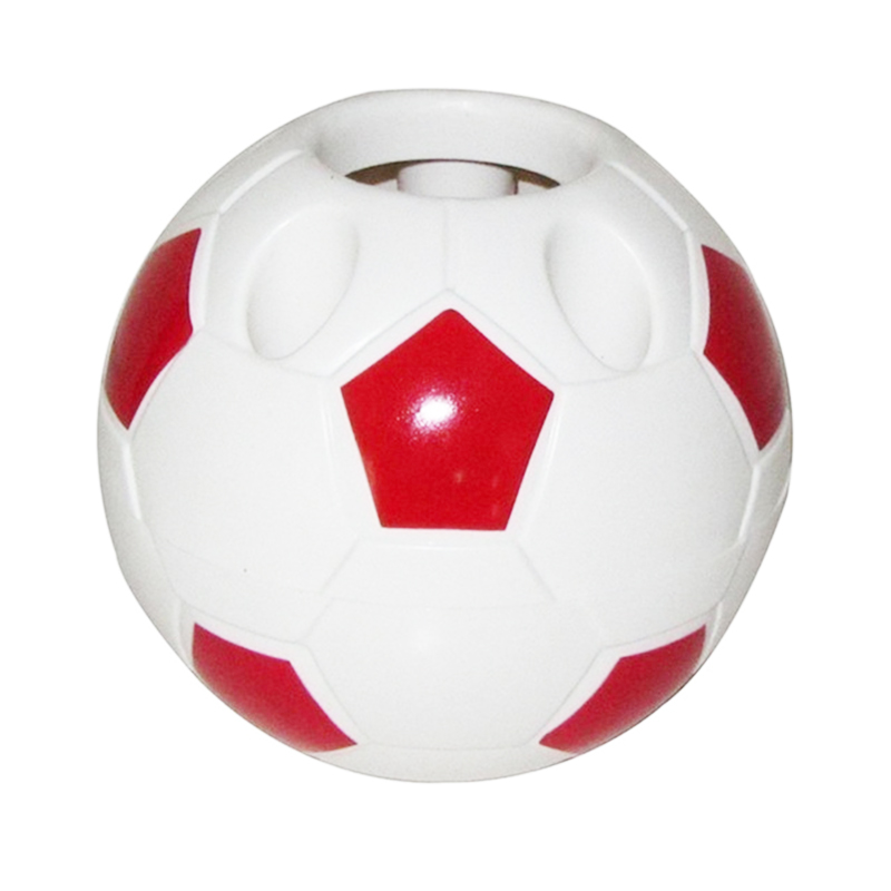 Soccer Shaped Pen Holder Football Makeup Brush Holders Desk Table Home Office Bedroom Toothbrush Holder Decoration Supplies——Red