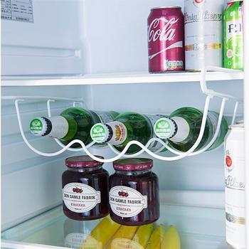 Fridge Beer Beverage Rack Iron Table Standing Rack Wine Glass Holder Refrigerator Storage Rack Bottle Organizer