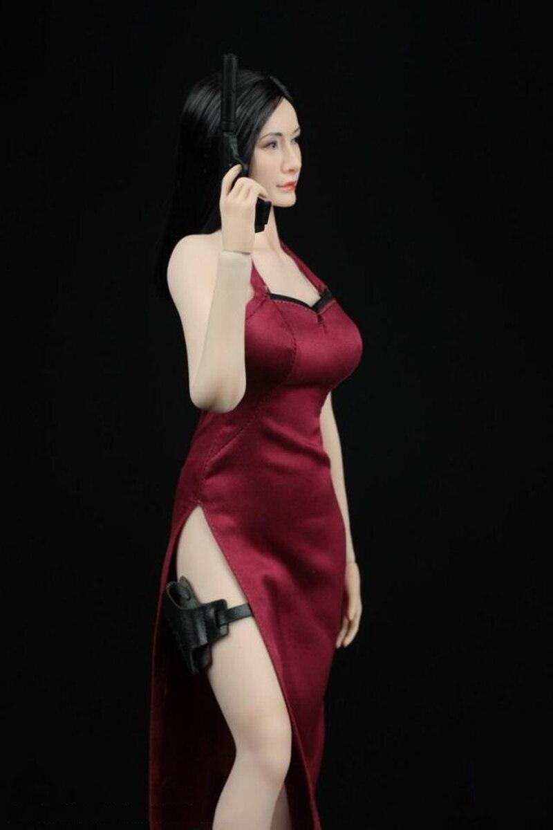 feminino ada wong cheongsam conjunto de roupas