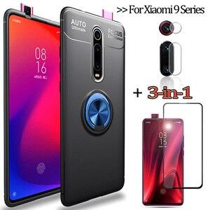 3-в-1 чехлы на телефон + камера стекло Mi9Lite Xiaomi 9 T Pro чехол для ми9лайт сяоми ми 9 т про чехлы ми9се ксиоми 9т про защитное стекло на ми9т ми 9 се ми 9 ...