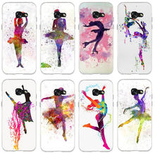 Phone Case for Samsung Galaxy Core 2 A3 A5 A7 A8 A9 A9S 2016 2017 2018 Star Pro Colorful Ballet Dancer Girl Ballet Shoes(China)