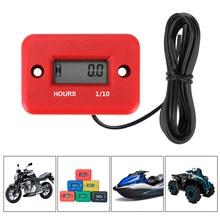 Portable Waterproof LCD Display Engine Gauge Hour Meter Digital Hour Meter For Motorcycle ATV Gasoline Marine Snowmobile