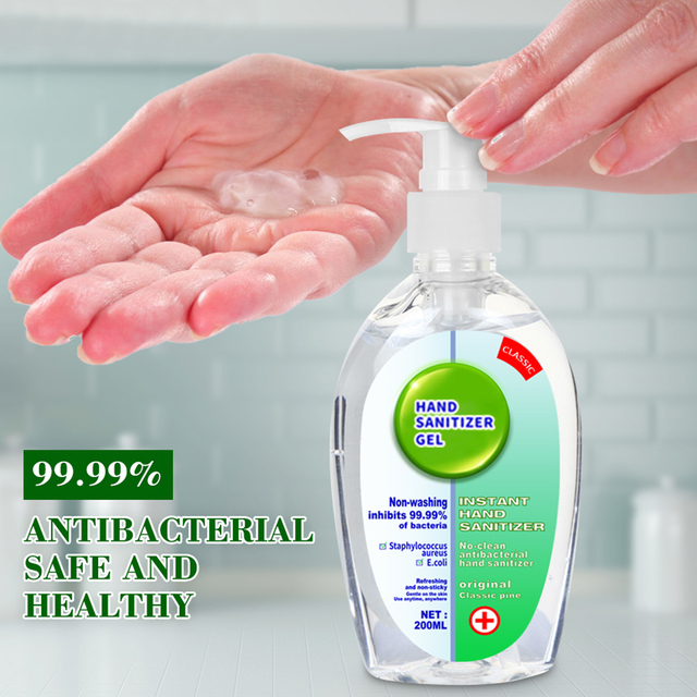 200ml Disposable Hand Sanitizer Gel Quick-dry Germicidal Portable Cleaning Wipe Out Bacteria Gel Hand Antiseptic Soap No Washing