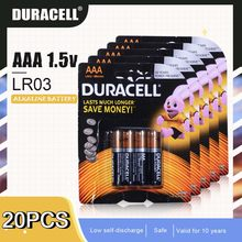 DURACELL – piles alcalines 1.5V AAA LR03 pour brosse à dents électrique, 20 pièces, pour lampe-torche, télécommande, cellules primaires sèches