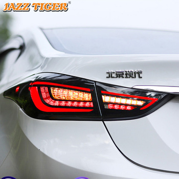 Car Styling for Hyundai Elantra Tail Lights 2011-2015 LED Tail Lamp LED Rear Lamp DRL Signal Brake Reverse auto Accessories цена 2017