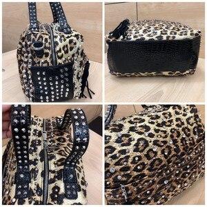 Image 4 - Sac à main de luxe strass pour femmes, sacoche de luxe, sac en diamant, sacoche à épaule imprimé léopard pour femmes, nouvelle collection