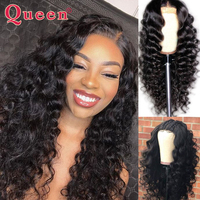 Brazilian 13*4 Loose Deep Wave Lace Front Human Hair Wigs With Baby Hair Remy 150% Density Human Hair Wigs QUEEN HAIR PRODUCTS