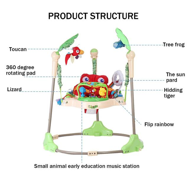 Multi-function Children Baby Bouncer Walker 6-24M Baby Gym Rack Cradle Baby Swing Rocking Chair for Newborm Baby Activity Gear 4
