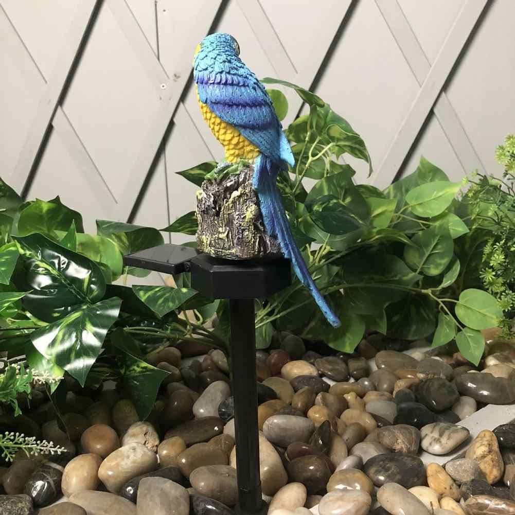 LumiParty Солнечный светодиодный садовый светильник на открытом воздухе водонепроницаемый на солнечных батареях в форме попугая лужайка лампа для садовой дорожки газон во дворе