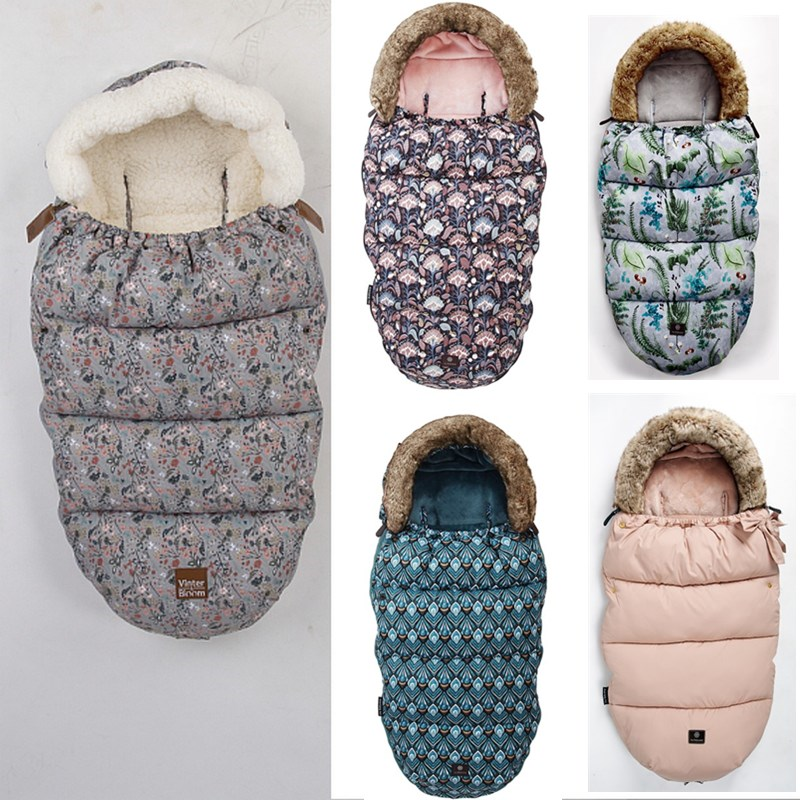 Envelope Stroller Footmuff Sleeping-Bag Baby Windproof Infant Winter Thick Foot-Cover