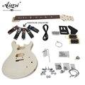 Aiersi madeira maciça personalizado 24 se diy kit de guitarra elétrica edifício auto guitarra conjunto com todos os hardwares EK-010