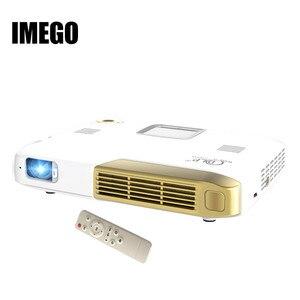 Карманный мультимедийный 3D-проектор HDMI для домашнего кинотеатра, Full HD 1080P видео беспроводной Wi-Fi Miracast DLNA Airplay, светодиодный проектор