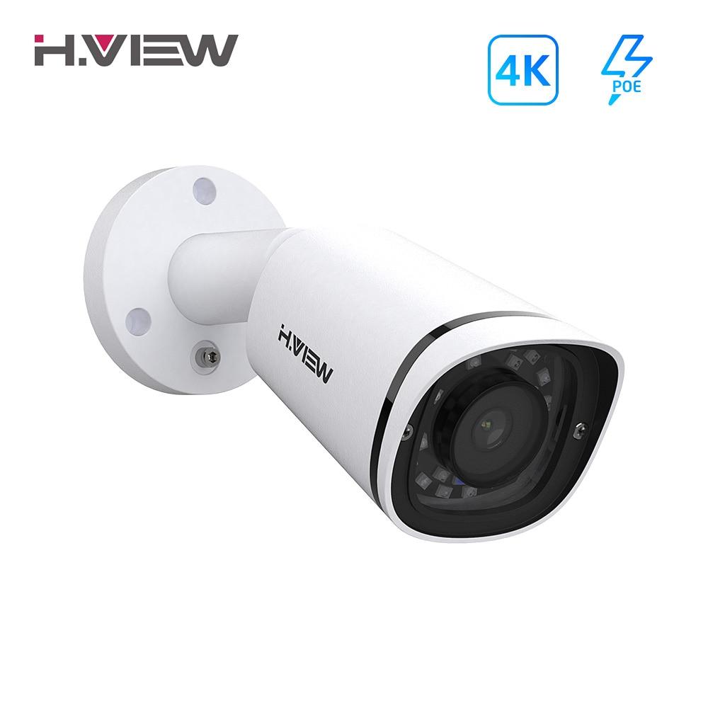 H.View 4K Poe Ip Camera 8Mp H.265 Cctv Security Camera Metal Outdoor Waterproof Audio Video Surveillance For 48V Poe Nvr Onvif|Камеры видеонаблюдения|   | АлиЭкспресс