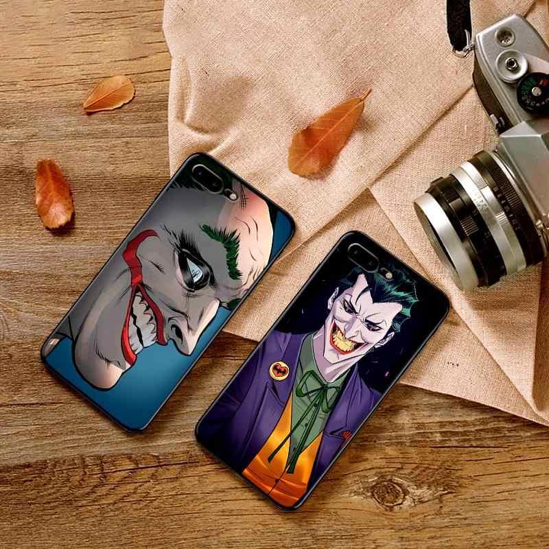Telefon komórkowy etui na iPhone'a X XS MAX XR 6 s 7 8 Plus etui moda miękkiego silikonu wyposażone tylna pokrywa Joker