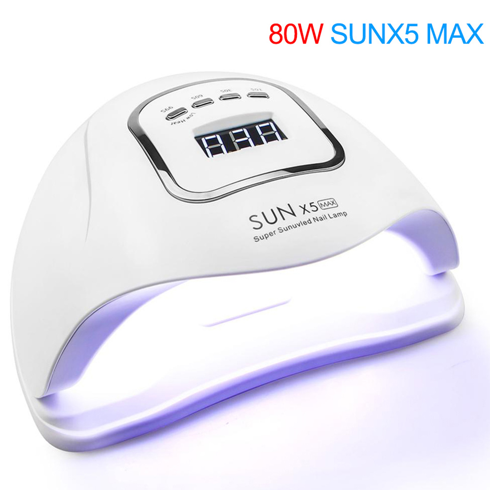 80W Nail Dryer For Nail LED UV Lamp 80W Uv Light Lamp For Manicure LCD Display Drying All Gels Nail Polish Nail Art Tools
