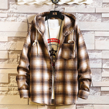 Plaid Style Autumn Spring 2019 Hoodie Sweatshirt Mens Hip Hop Punk Cardigan Streetwear Casual Fashion Clothes