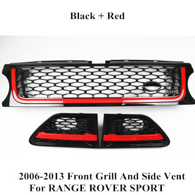For Range Rover Sport Grille Grill 2010-2013 Air Side Vents Autobiography Black AA