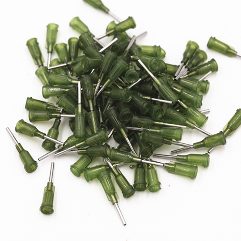 100pcs 14G Precision Passivated S.S. Dispense Tip With PP Safetylok Hub, 0.5