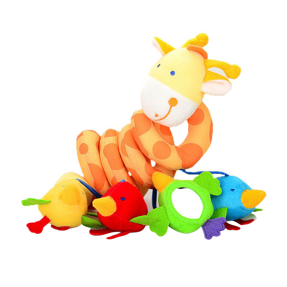 Pendant Toy Music Cute Giraffe Baby Crib Soft Stroller Accessories Bed Plush Bell Spiral Shape Non Toxic Hanging Rattle