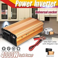 Car Inverter 12V 220V 4000W Peak Car Solar Power Inverter Voltage Transformer Converter 12 220 Charger Solar Inversor 12V 220V