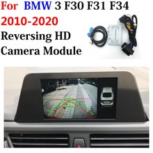 Adaptador de decodificador automático para frente traseira do carro 360 câmera dvr para bmw 3 f30 f31 f34 2010 ~ 2020 display melhorar o sistema de assistência estacionamento