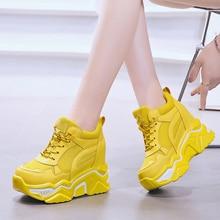 Rimocy Hidden Heels Wedge Platform Sneakers Women Casual Lac
