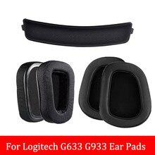 Logitech – housses de coussinets pour écouteurs, pour modèles G633 et G933, 1 paire d'oreillettes en coton