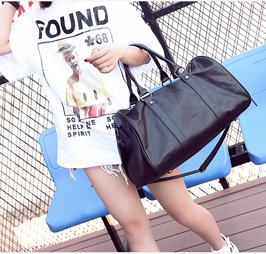 Men's Leather Sports Training Bag Durable Gym Bags For Men Women Fitness Military Training Handbag Leather Travel Luggage Tote01