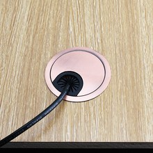 KK& FING 1 шт. алюминиевый стол провод отверстие крышка База 50-80 мм компьютерный стол втулка кабель порт проволока отверстие крышка мебельная фурнитура