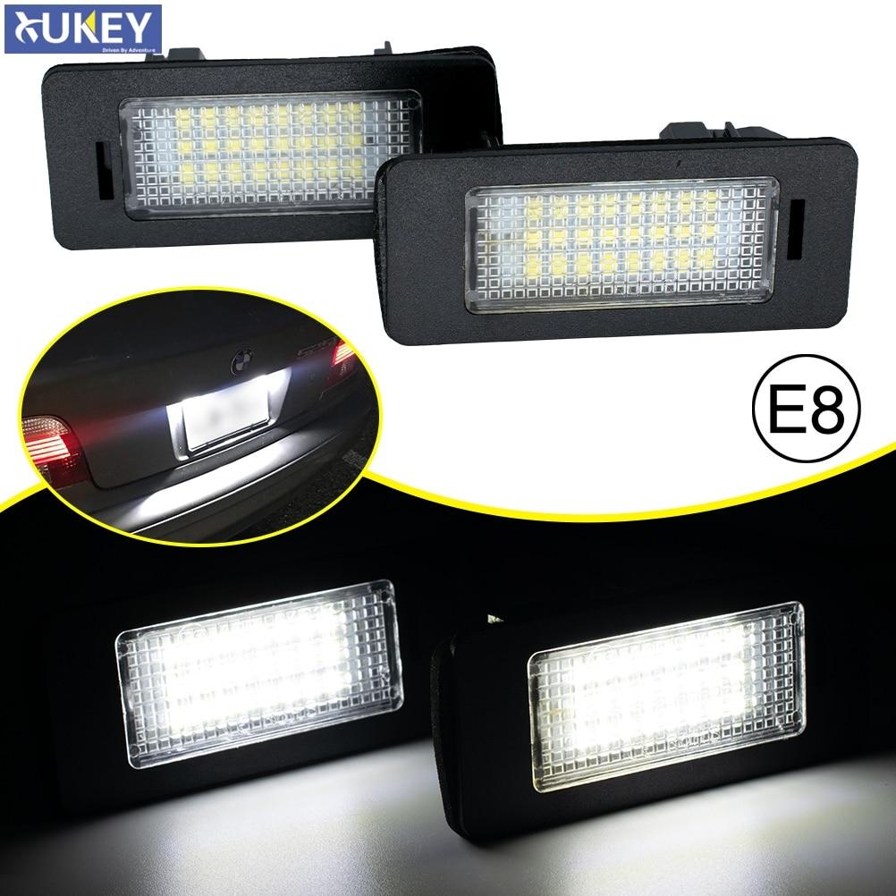 2x Canbus светодиод номерной знак скрытый белый задний тег номерные знаки светильник для BMW E39 M5 E70 E71 X5 X6 E60 M5 E90 E92 E93 M3