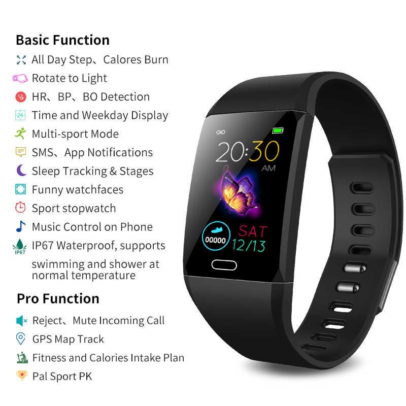 Simple mode hommes femmes montre intelligente nouvelle couleur écran lumière mince intelligent Bracelet fréquence cardiaque sommeil moniteur soins pour la santé
