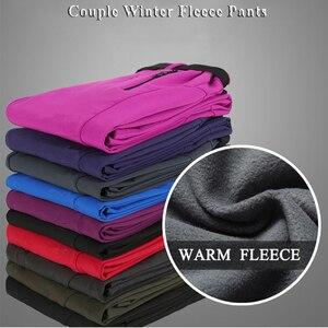 Image 3 - Facecozy 2019 נשים חורף צמר טיולי קמפינג חם מכנסיים חיצוני Windproof עמיד למים מכנסיים עבור טרקים סקי Pantolon