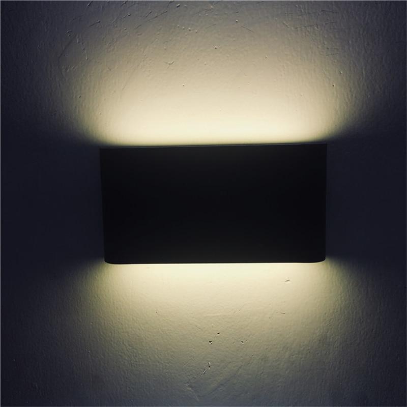 led preto lampada de parede ip65 liga aluminio patio varanda lampada de parede decoracao da lampada